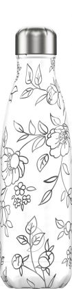 Chilly's Line Art Flowers, 500ml Isolierflasche