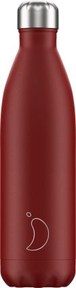 Chilly's Matte Red, 750ml Isolierflasche