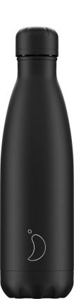 Chilly's Monochrome All Black, 500ml Isolierflasche