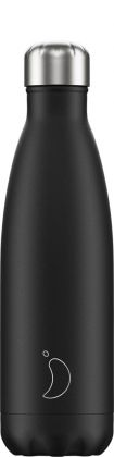 Chilly's Monochrome Black, 500ml Isolierflasche