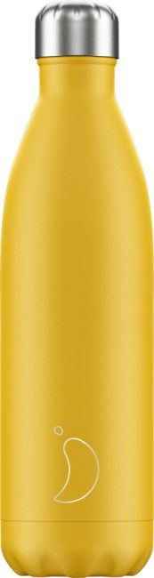 Chilly's Matte Burnt Yellow, 750ml Isolierflasche