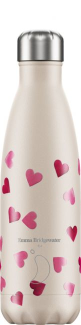 Chilly's Emma Bridgewater Pink Hearts, 500ml Isolierflasche