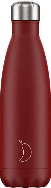 Chilly's Matte Red, 500ml Isolierflasche