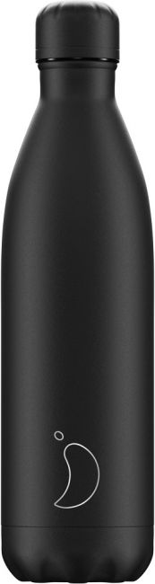 Chilly's Monochrome All Black, 750ml Isolierflasche