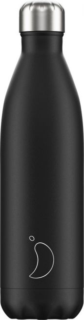 Chilly's Monochrome Black, 750ml Isolierflasche