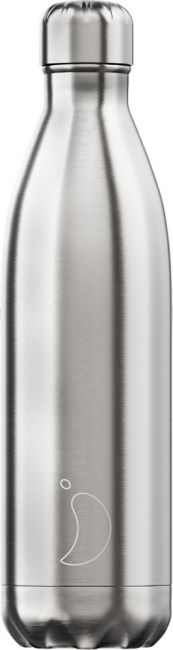 Chilly's Stainless Steel Silver, 750ml Isolierflasche